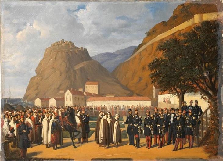 Сдача абдель кадера 24 дек 1847 Огюстен Режис Шантильи.jpg