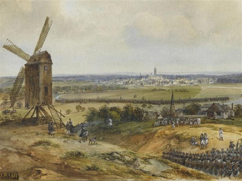 Вступление ген Дюморье в монс во главе фр армии 19 в С Ж А Фор Версаль.jpg