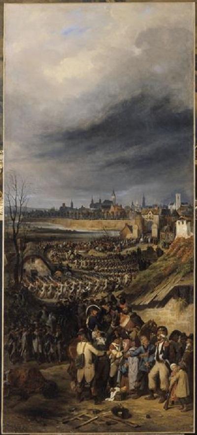 вступление фр армии под ком Дюморье в монс 1835 Ж Л И Белланже версаль.jpg