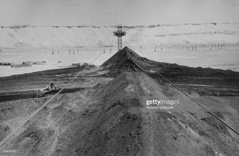 Вид на угольный разрез сент 1957 Сохурек.jpg
