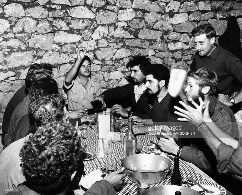 Кабилия офицеры в столовой 1957 Ж Ф Шарбонье.jpg
