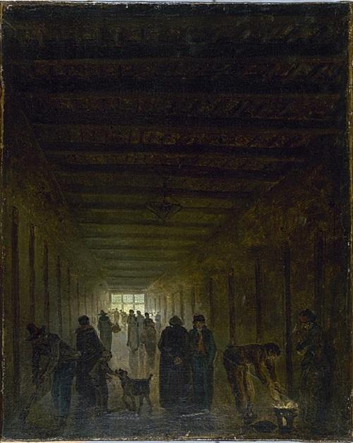 коридор тюрьмы Сен лазал в 1794 Р Юбер Карнавале.jpg