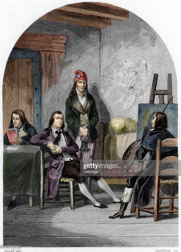 Поэт Жан антуан Руше Андре Шенье и худ робер Юбер в сен лазаре гр 1840-х.jpg