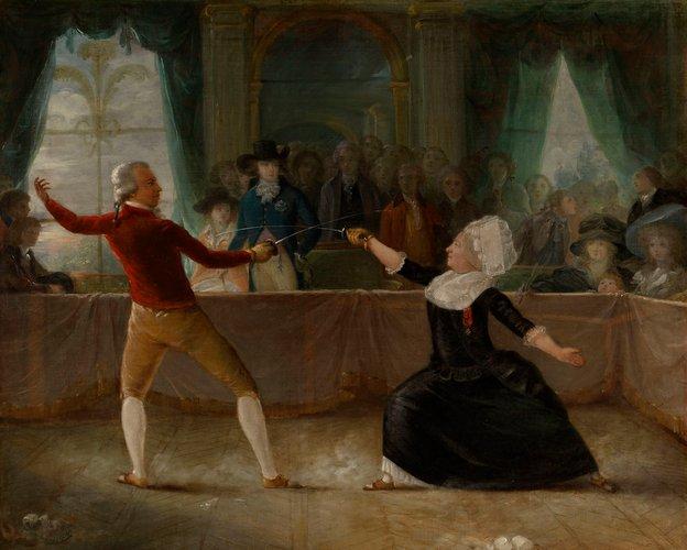 поединок между сен Жоржем и эоном 1787 1789 Робино кор колл траст.jpg