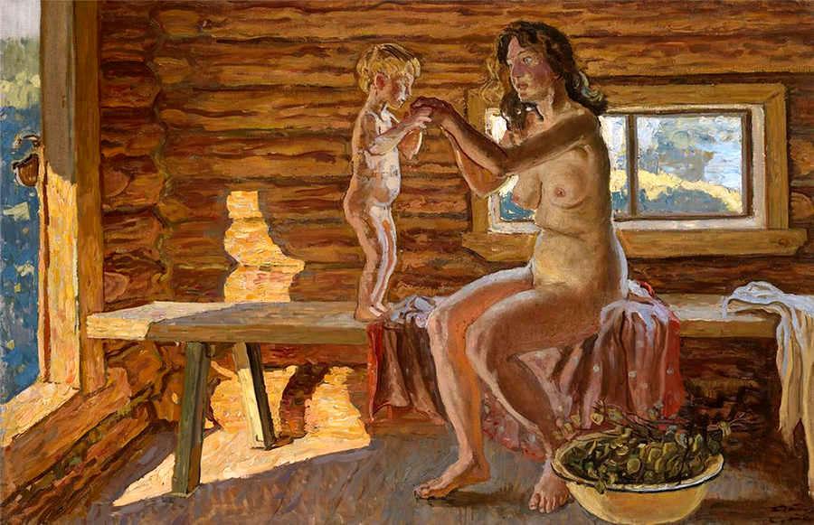 желание передается денис в женской бане устроился солидную