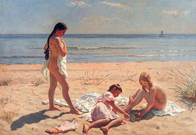 Обнаженные Девочки Мальчики Загорают На Берегу Моря