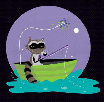 рыбак енот