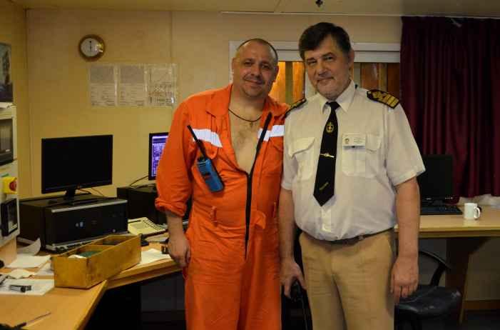 капитан Никольский и 3-й помощник Максим Батюк