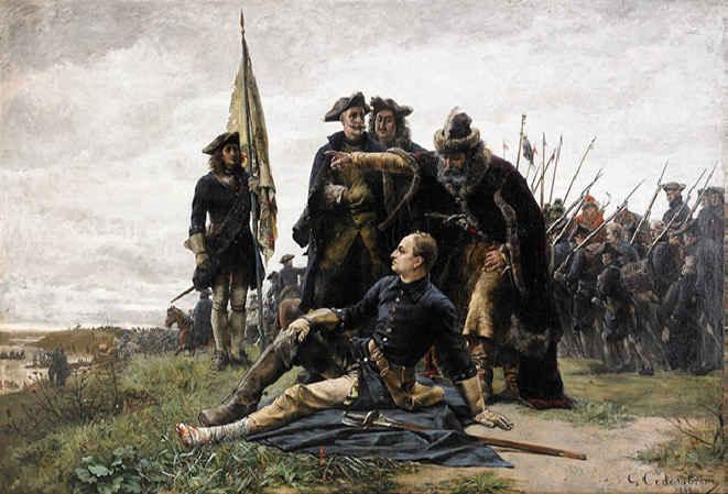 Картина Густава Седерстрема Мазепа и Карл XII после Полтавской битвы