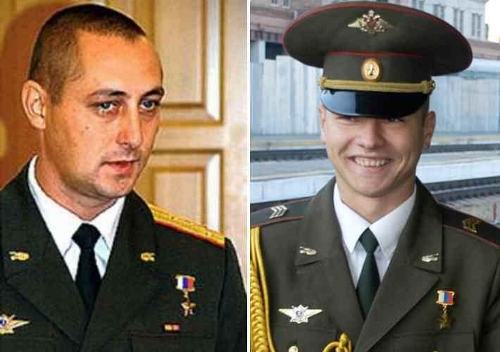 Герои Российской Федерации капитан Юрий Яковлев и сержант Сергей Мыльников