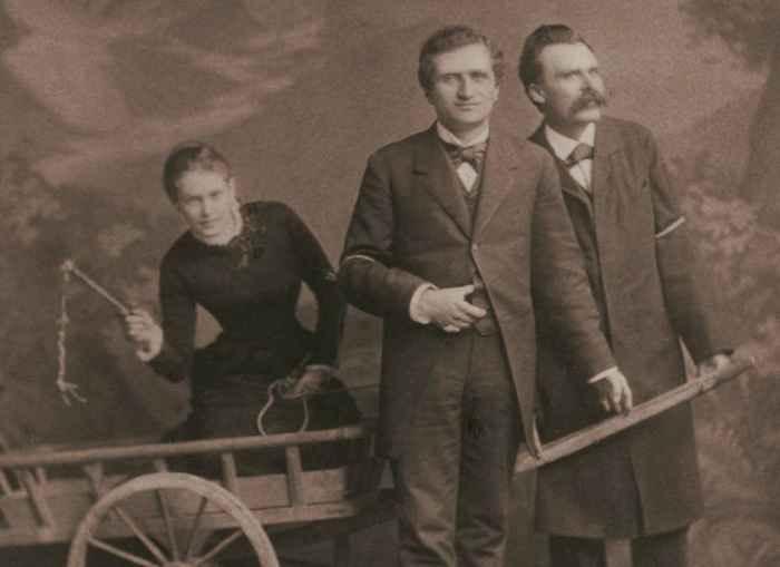 Lou Andreas-Salomé, Paul Rée y Nietzche, en 1882