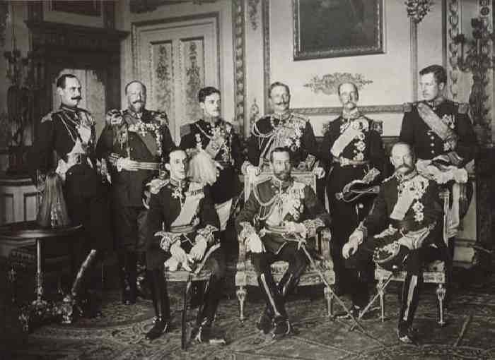Девять царей собрались, чтобы оплакать смерть короля Эдуарда VII, 1910