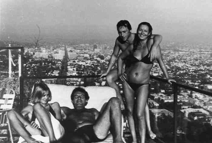 Джессика Лэнг, Милош Форман, Владимир Высоцкий, Марина Влади. США, Лос-Анджелес, 1976