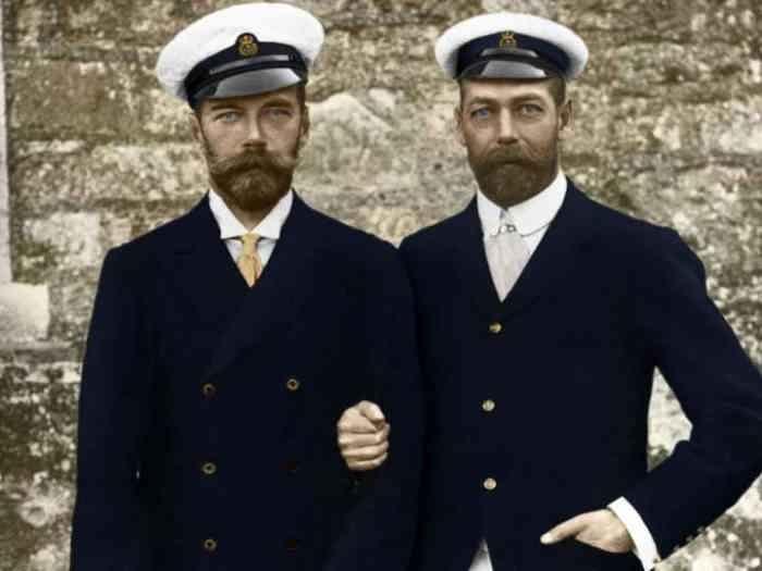Николай II со своим двоюродным братом английским королём Георгом V