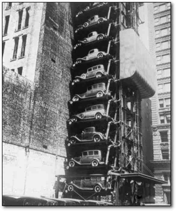 Стоянка автомобилей в Чикаго, 1936