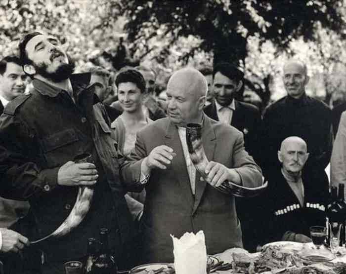 Хрущёв и Кастро в Грузии, 1963