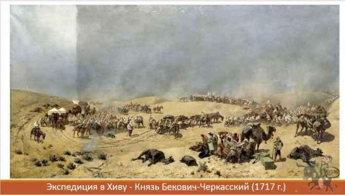 Экспедиция в Хиву 1717 - художник Каразин