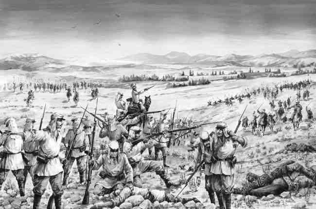 Сражение русских войск с хивинцами