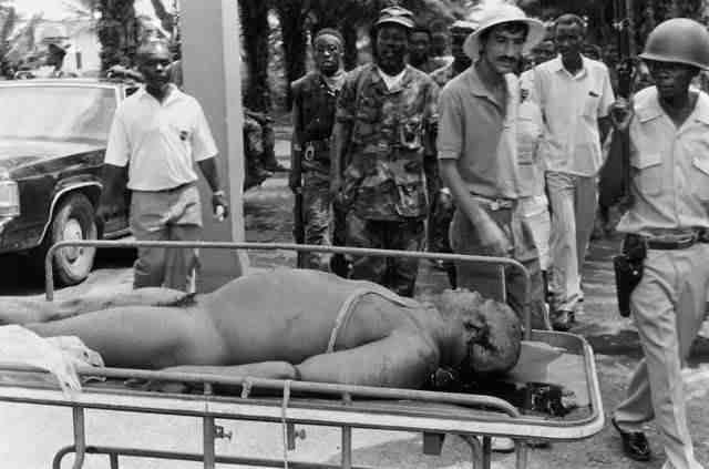 убитый президент Либерии Доу