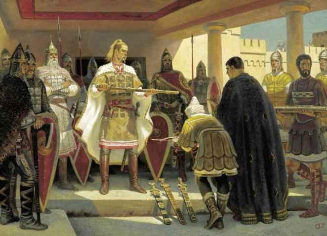 Картина Бориса Ольшанского Предание о Святославе