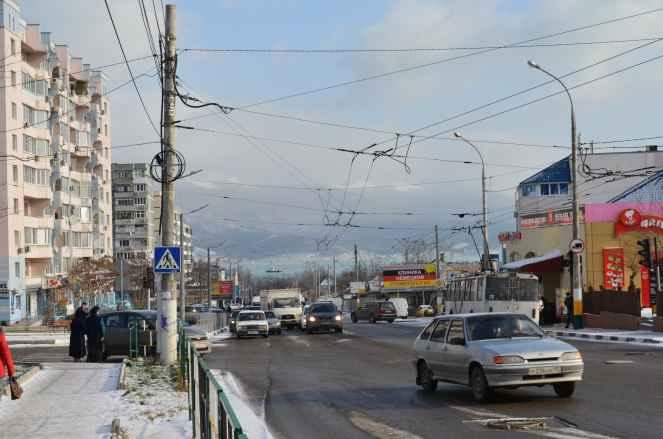 Новороссийск. Улица Куникова 11 декабря 2013