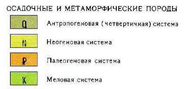 Геологическая карта символы