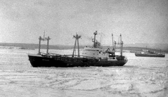 Вяткалес в Ванино во льду