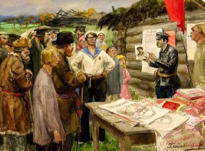 Агитатор. Картина Ивана Владимирова 1920 года