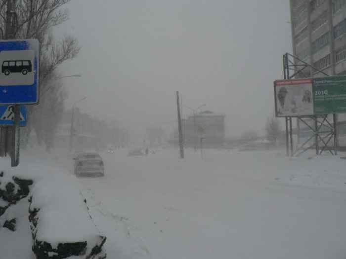 Холмск зимой