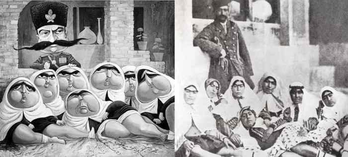 Иранский Шах со своим гаремом