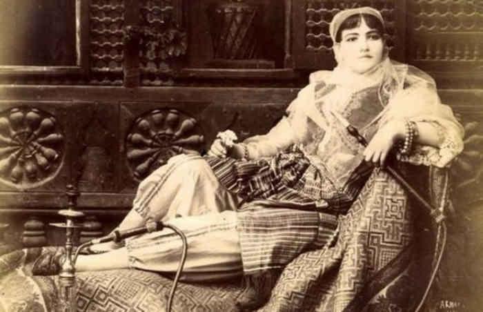Наложница гарема в Турции, 1875 год