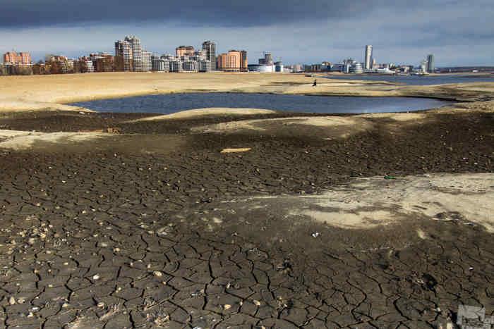 Высохшее русло реки Казанка