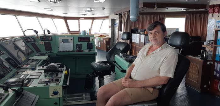 капитан Никольский на мостике
