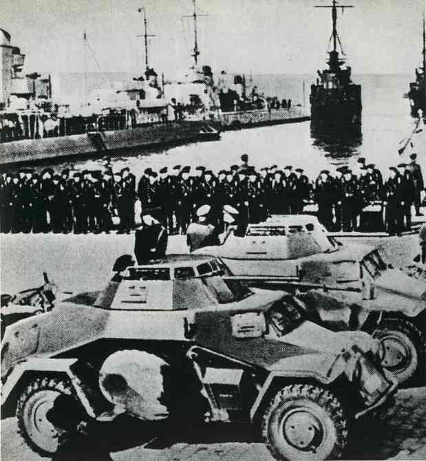 Немцы в Клайпеде, март 1939