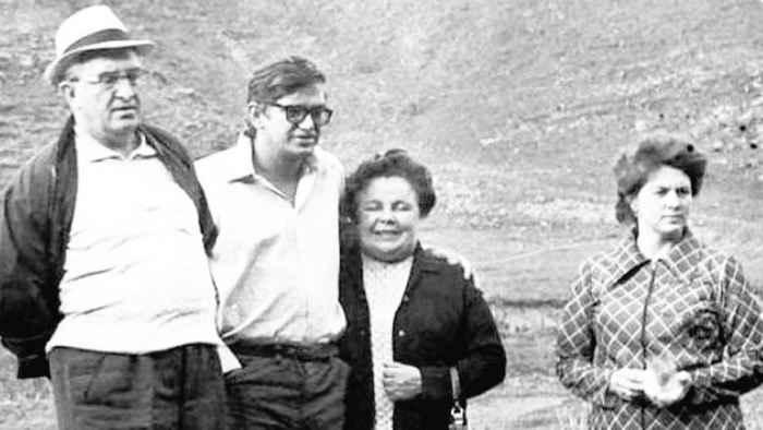 Андропов, его сын Игорь, жена Татьяна, дочь Ирина