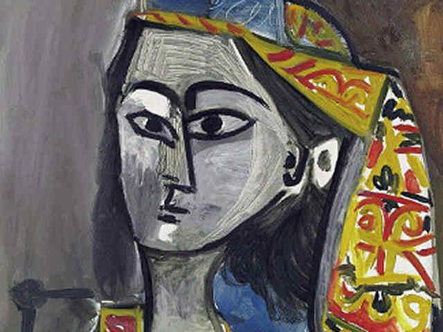 Пикассо - Женщина в турецком костюме, сидящая в кресле
