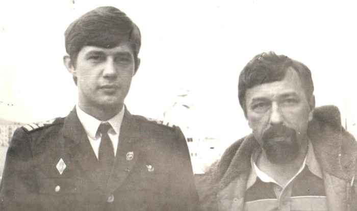Никольский с доктором Китаевым, Сахалин 1986 год