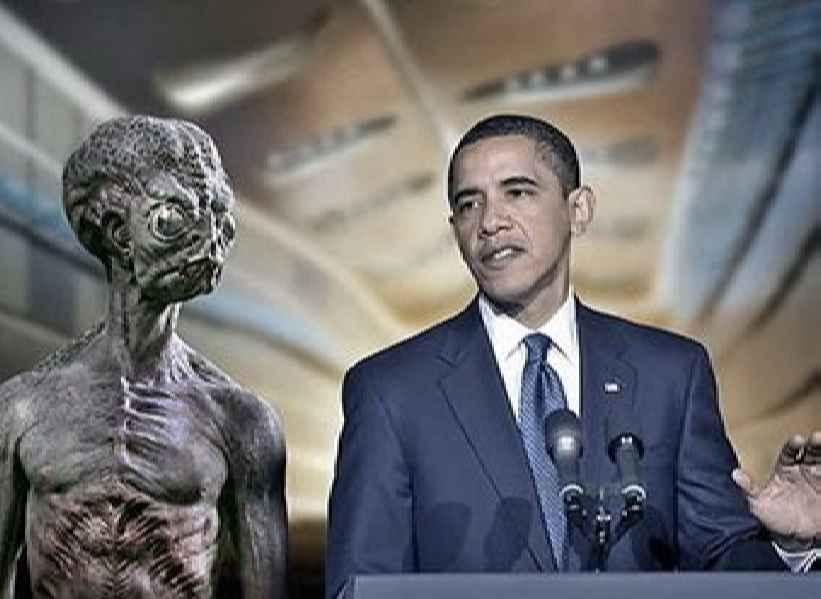 Обама и пришелец