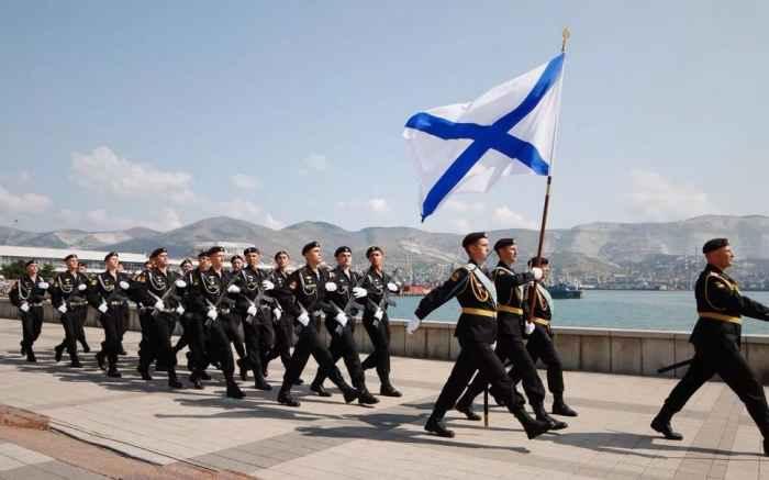 Новороссийск. Морская пехота на Набережной имени адмирала Серебрякова