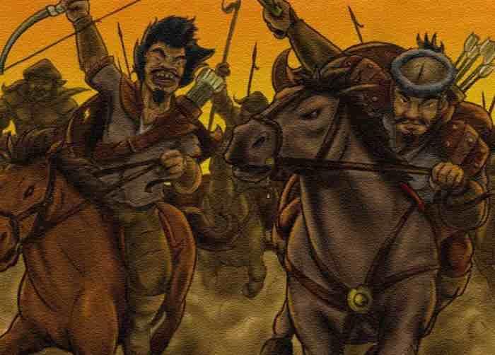 Набег татарской конницы