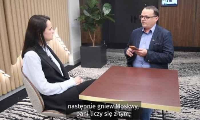 Светлана Тихановская и Витольд Янчис