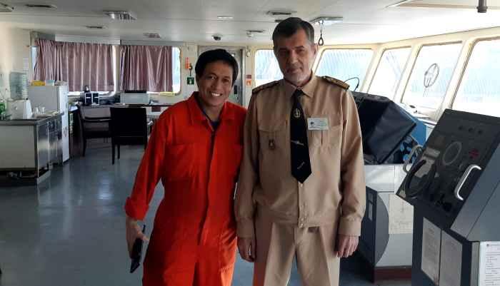 Captain Nikolskiy and 3-rd Officer Alan A. Cabuyoc