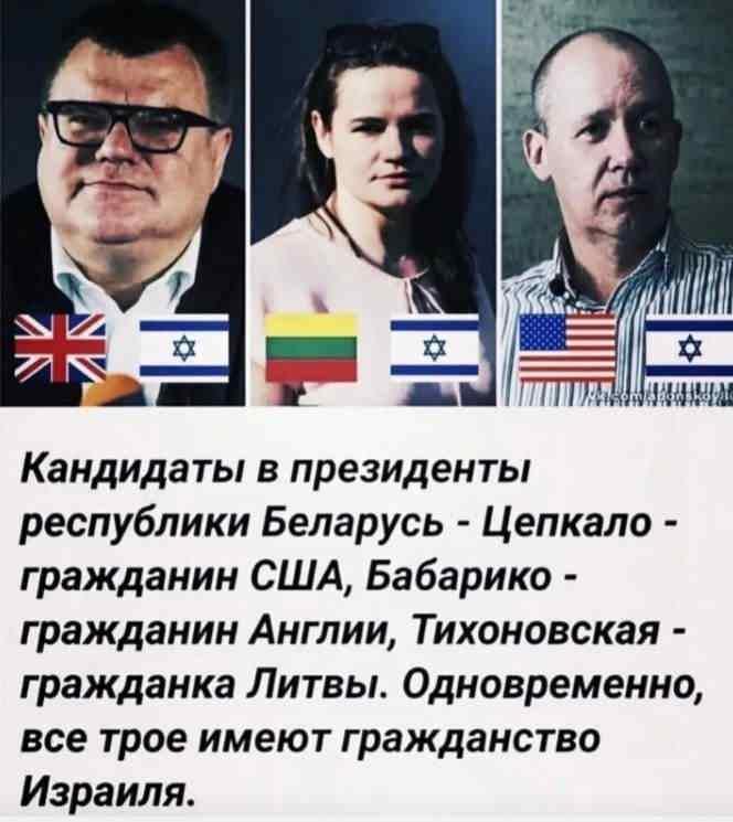 Кандидаты в президенты Белоруссии