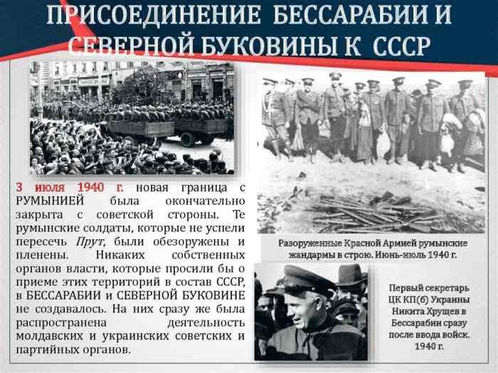 Присоединение Бессарабии к СССР