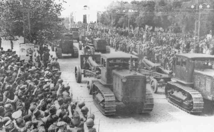 Советская артиллерия в Бессарабии