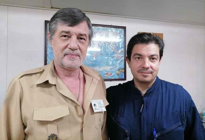 Captain Nikolskiy and Marine Sup't Capt Menelaos Arapakos