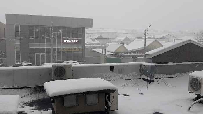 Новороссийск снег 17 февраля 2021