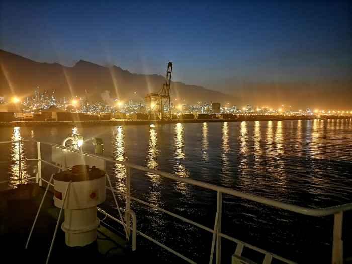 Ночные огни порта