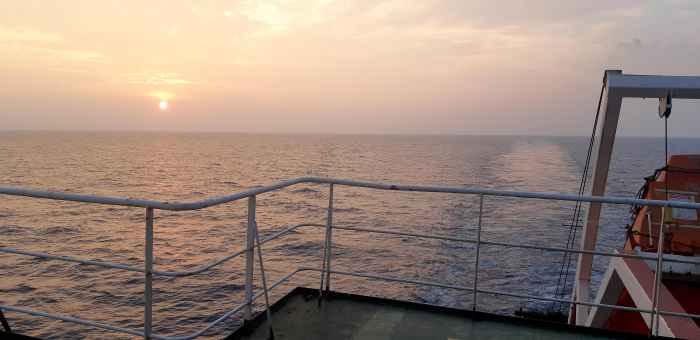 Закат Солнца в Индийском Океане