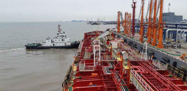 Chemical tanker PK MARIT mooring in China